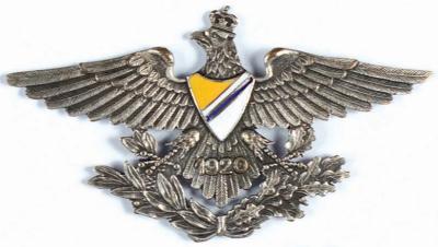 Аверс и реверс полкового знака 27-й уланского полка им. короля Стефана Батория.