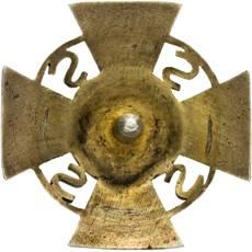 Аверс и реверс полкового знака 83-го полка Полесских стрелков им. Ромуальда Траугутта.