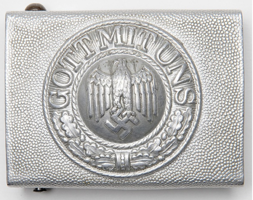 Ремень и алюминиевая пряжка рядового состава Вермахта.