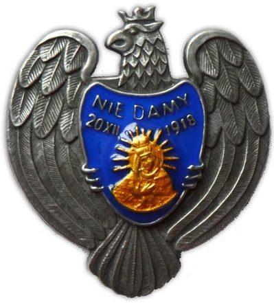Аверс и реверс офицерских полковых знаков 85-го полка Виленских стрелков.