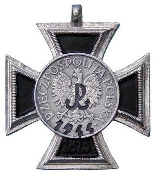 Аверс креста Варшавского восстания.