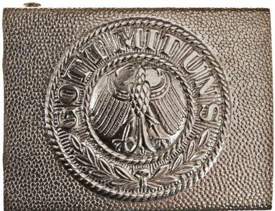 Пряжка рядового состава Рейхсвера из мельхиора.
