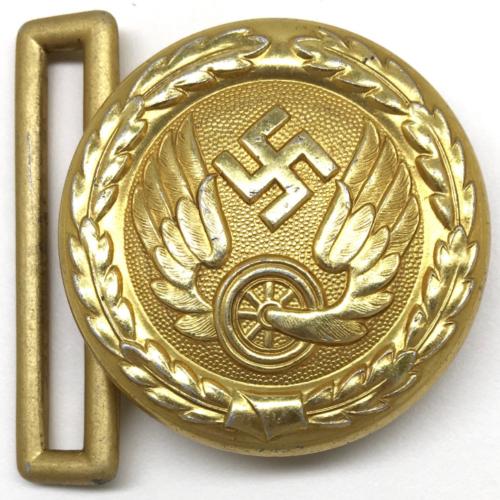 Ремень и пряжка золотистого цвета офицера железнодорожника образца 1940 г.