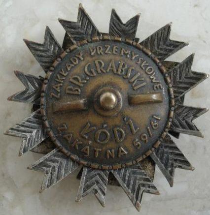 Аверс и реверс полкового знака 1-го полка Подгаланских стрелков.