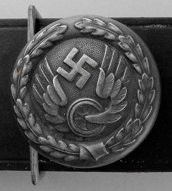 Ремень и алюминиевая анодированная пряжка офицера железнодорожника образца 1940 г.