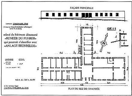 План основного здания ставки «Zigeuner».