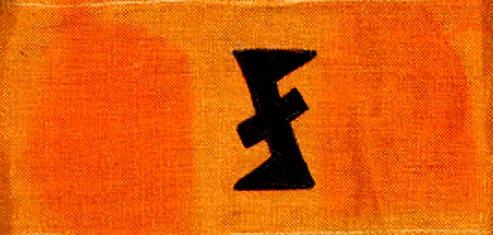 Нарукавная повязка Фламандской вспомогательной бригады.