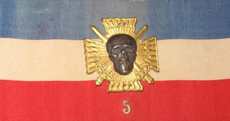 Нарукавные повязки Французской националистической организации «Боевые кресты».