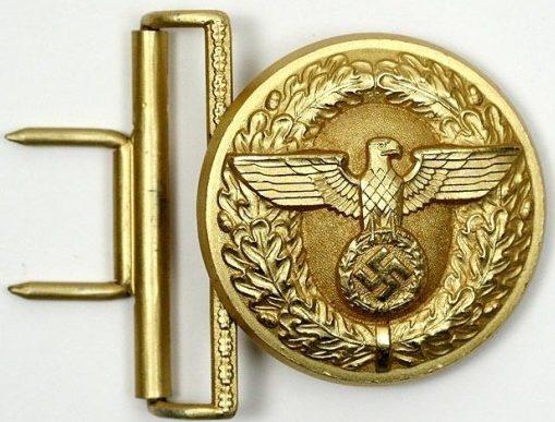 Кожаный ремень и пряжка руководящего состава NSDAP.