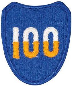 100-я пехотная дивизия. Развернутая в Европе в 1944 г.