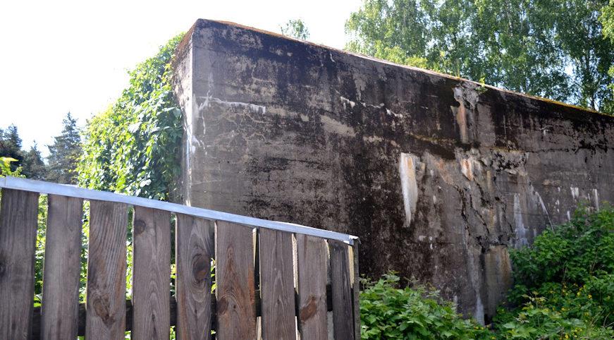 Дизель-генераторная в огороде частного сектора, называемая «Близнец», за схожесть с бункером Гитлера.