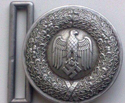 Парадный ремень и пряжка офицерского состава Вермахта.