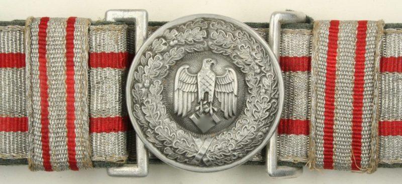Парадный ремень и пряжка суперинтенданта Вермахта.
