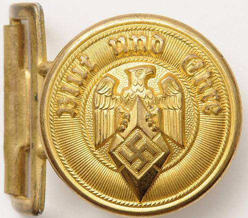 Золотистая пряжка высшего руководства Hitlerjugend.
