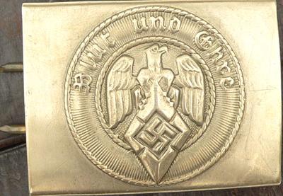 Ремень и латунная пряжка рядового состава Hitlerjugend.