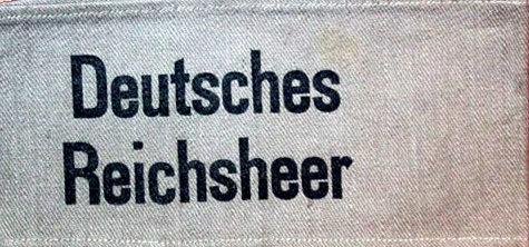 Нарукавная повязка «Немецкий Рейхсвер». Использовали гражданские, находящиеся на военной службе до 1935 г.