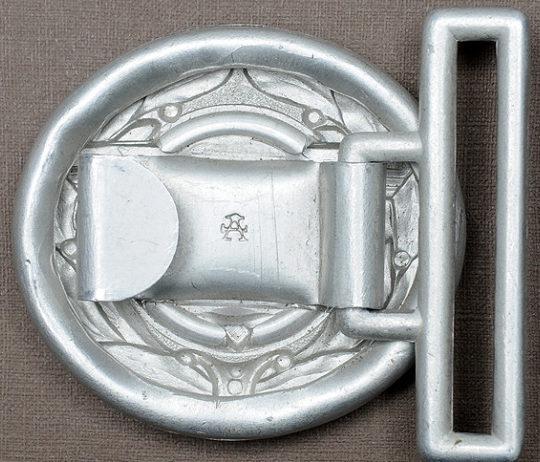 Парчовый парадный ремень и серебристая алюминиевая пряжка офицеров корпуса TeNo.