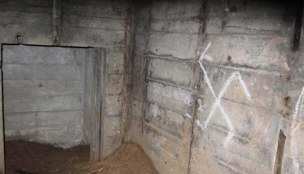 Остатки сооружения «Ольга» внутри.