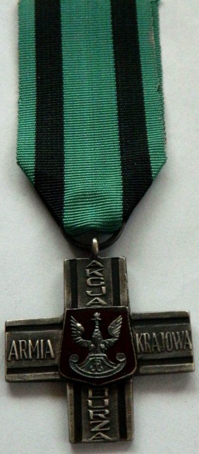 Аверс памятного знака «Крест Акции «Буря».