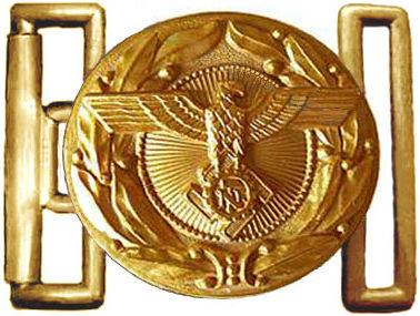 Золотистая алюминиевая пряжка офицеров корпуса TeNo.
