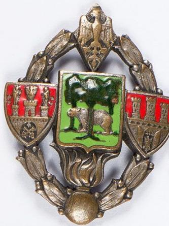 Аверс и реверс полкового знака 2-го тяжелого артиллерийского полка.