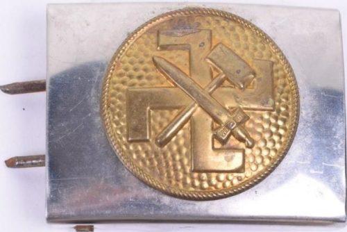 Мельхиоровая пряжка с латунной накладкой членов Jungvolk.