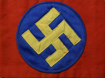 Нарукавная повязка Шведской национал-социалистической партии.
