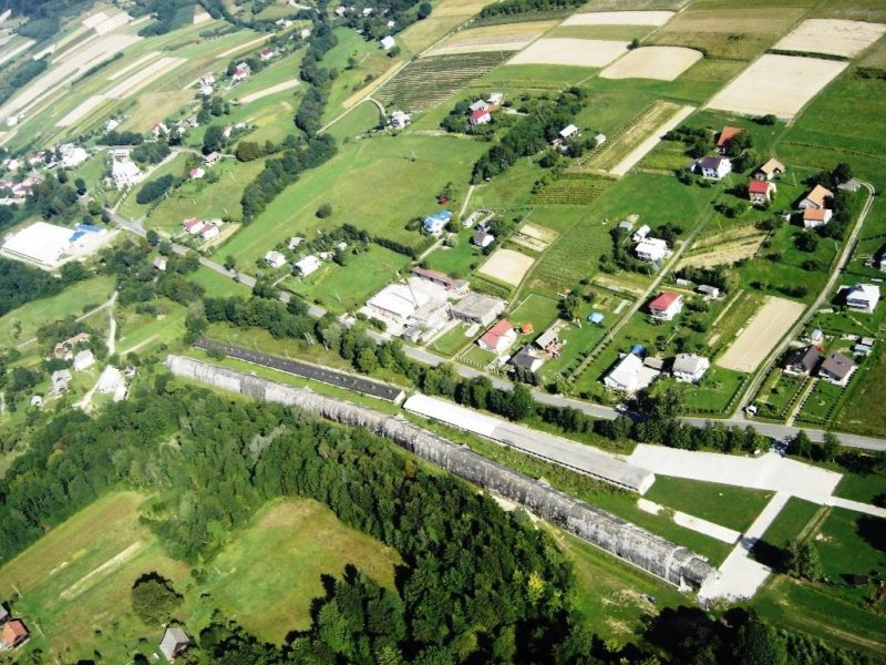 Вид ангара «Юг» с высоты.