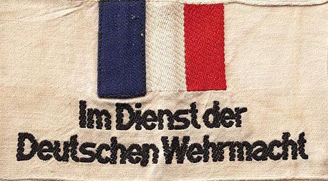 Нарукавная повязка французского гражданина на службе немецкого Вермахта.
