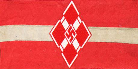 Нарукавная повязка Союза латвийской молодёжи.