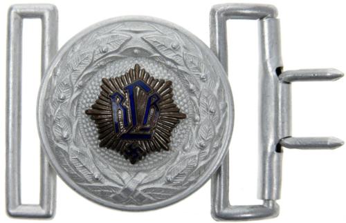 Парадный ремень и поздняя алюминиевая пряжка офицера RLB.