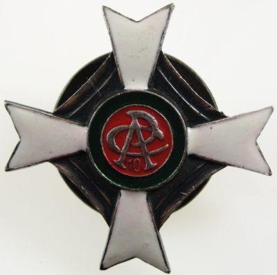 Аверс и реверс полкового знака 10-го тяжелого артиллерийского полка.