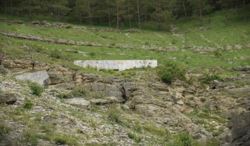 ДОТы, охранявшие подходы к подземным объектам.