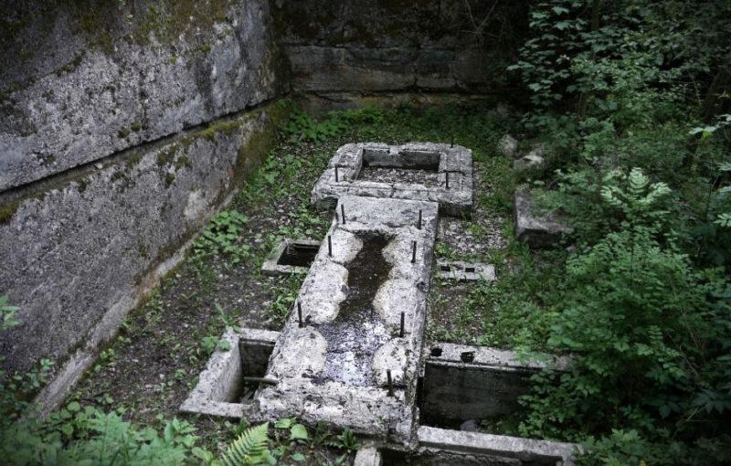 Остатки фундаментов демонтированного оборудования.
