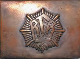 Поздняя латунная пряжка рядового состава RLB.