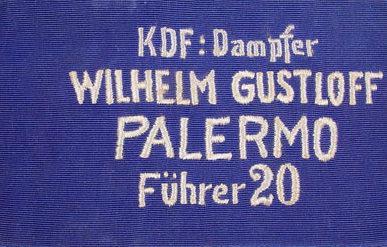 Нарукавная повязка моряков круизного корабля «Вильгельм Густлофф».