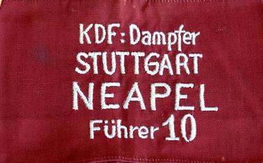 Нарукавная повязка моряков круизного лайнера «Штутгарт».