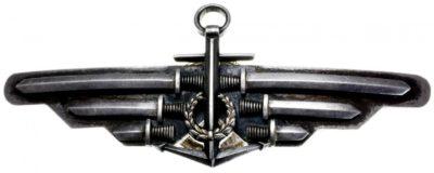 Аверс и реверс знака морского пилота.