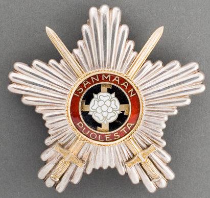 Звезда ордена Креста Свободы с мечами.