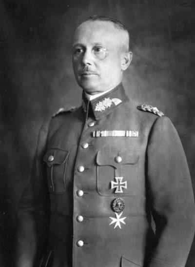 Вернер Фрич. Генерал-полковник.