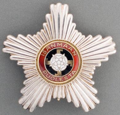 Звезда ордена Креста Свободы без мечей.