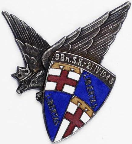 Аверс и реверс памятного знака 9-го стрелкового батальона.
