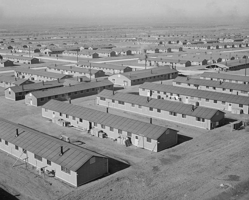 Лагерь «Granada» в штате Колорадо для интернированных. Декабрь 1942 г.
