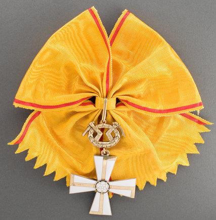 Большой Крест ордена Креста Свободы за военные заслуги в мирное время.