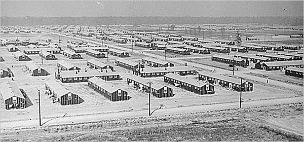 Лагерь «Jerome» в штате Арканзас для интернированных.