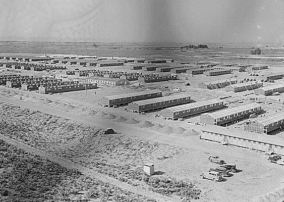Лагерь «Minidoka» в штате Айдахо для интернированных.