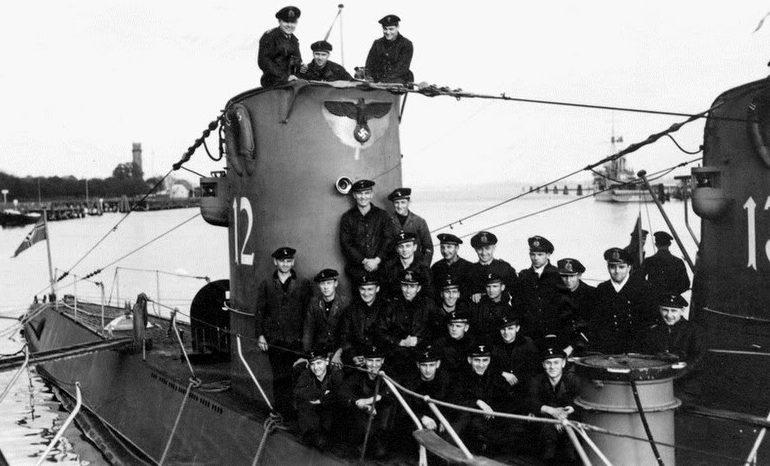 Экипаж подлодки «U-12». Октябрь 1939 г.