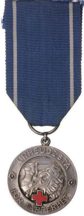 Медаль Свободы 1-го класса ордена Креста Свободы с Красным Крестом.