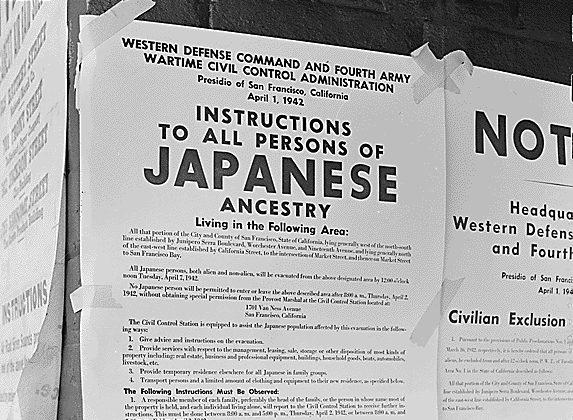 «Инструкции для всех лиц японского происхождения». Официальное уведомление о выселении. Апрель 1942 г.