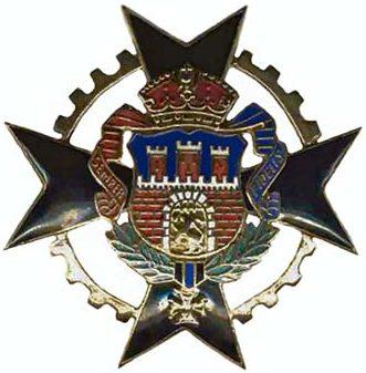 Аверс и реверс офицерского памятного знак 6-го танкового батальона.